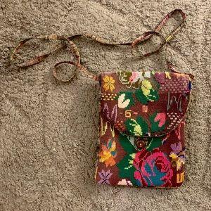 Bags - Handmade Floral Cross-Body Purse